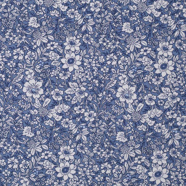 Rose & Hubble Delph Floral Cotton Poplin in 2020 Floral