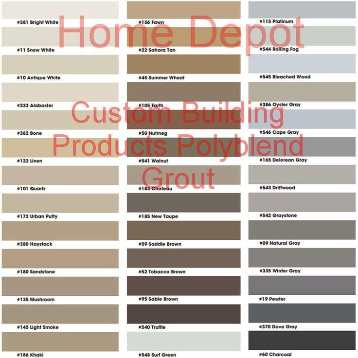 tile grout grout color