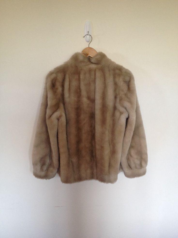 VINTAGE authentic rare 60s/70s stunning light beige faux fur jacket (us 6, uk au nz 10, eu 38) by shopblackheart on Etsy