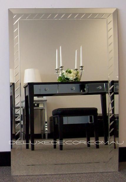 Rectangle Groove Bevelled Wall Mirror Deco 1504 (900 x 600 mm) http://deluxedecor.com.au/products-page/wall-mirrors/rectangle-groove-bevelled-wall-mirror-deco-1504-900-x-600-mm/