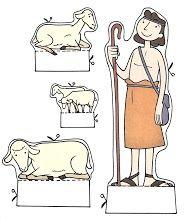 1)herder en schapen 1 2) Hyvä Paimen havaintomateriaalia http://www.lastenmissio.fi/media/pdf/Havaintomateriaali/Hyva_paimen.pdf