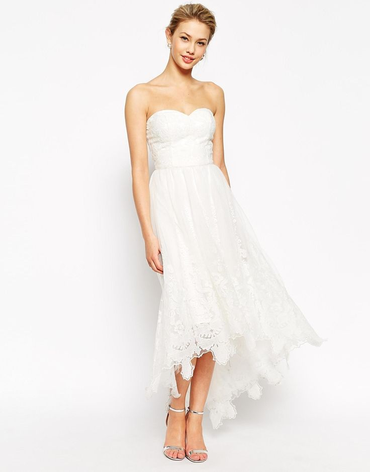 Chi Chi London Premium Embroidered Bandeau Prom Dress