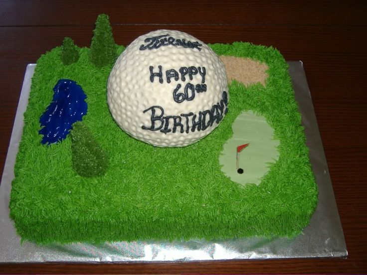 Themed Cakes Golf Birthday Cake And Cupcake Decorating Ideas