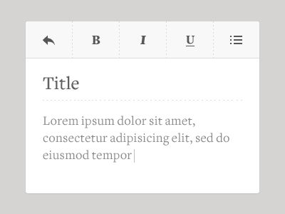 Texteditor - note