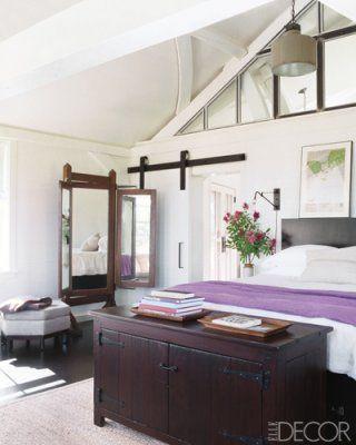 The master bedroom at Meg Ryan's beach house.