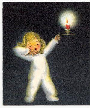 A darling 1940s Hallmark Christmas card. #vintage #Christmas #cards