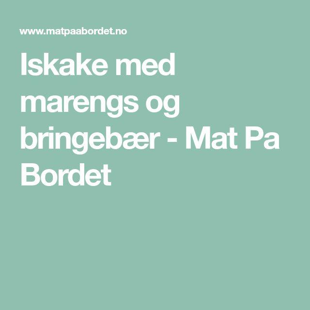 Iskake med marengs og bringebær - Mat Pa Bordet