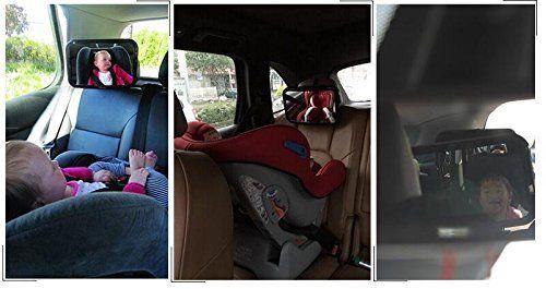 Yacool® Espejo del asiento de coche de bebé de espalda, mirando hacia atrás bebé Visión Seguridad Espejo 360 grados Regulación, convexo y no se astilla de vidrio, de fácil observar a su hijo precioso en el coche: Amazon.es: Coche y moto