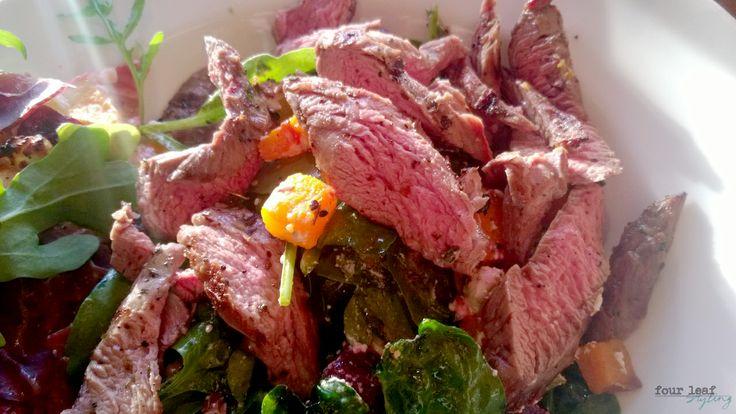 Rare beef Summer salad