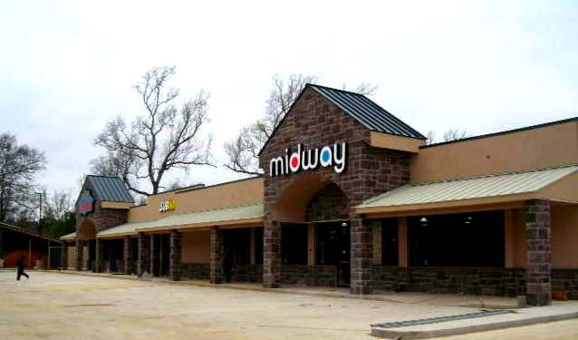 A 2013 Mid-West Design Build Award of Merit winner, the Midway Coldspring retail center is home to a gas station, convenience store, sandwich shop and liquor store. The General Contractor was TDK Construction; Ernest Steel Erectors was the erector and Rep