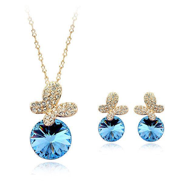 Яркий бабочка алмаз невесты кристалл ожерелье и браслет ювелирных аксессуаров самым продаваемым продуктом-Ювелирные изделия из цинкового сплава-ID товара::60341580712-russian.alibaba.com
