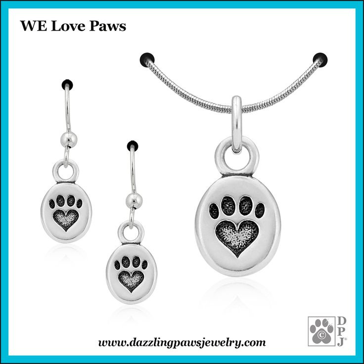 Designed in an oval shape, our We Love Paws pendant has a smooth finish and a beveled edge. Recessed within the paw print charm is our popular paw print with its four digital pads and a sweet little heart for the metacarpal pad. The paw print has also been oxidized so it pops!