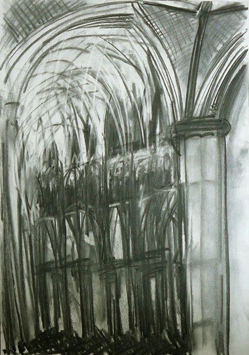 Lincoln Cathedral Interior II by Dennis Creffield