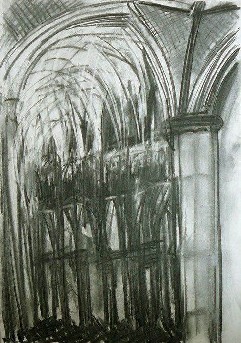 Lincoln Cathedral Interior II by Dennis Creffield