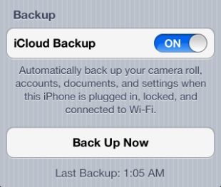 iCloud backup settings - how to back up/restore iPhone settings