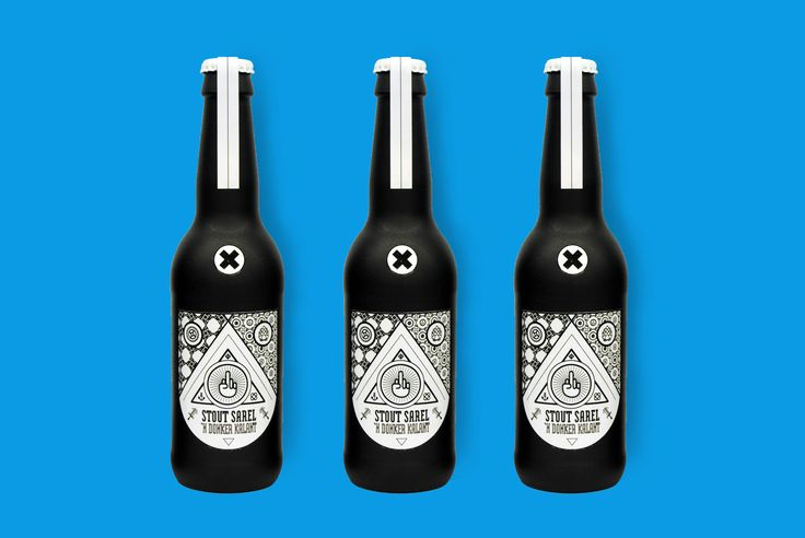 Beer label design & packaging by Ronel Swanepoel.   https://www.behance.net/gallery/20125281/Stout-Sarel