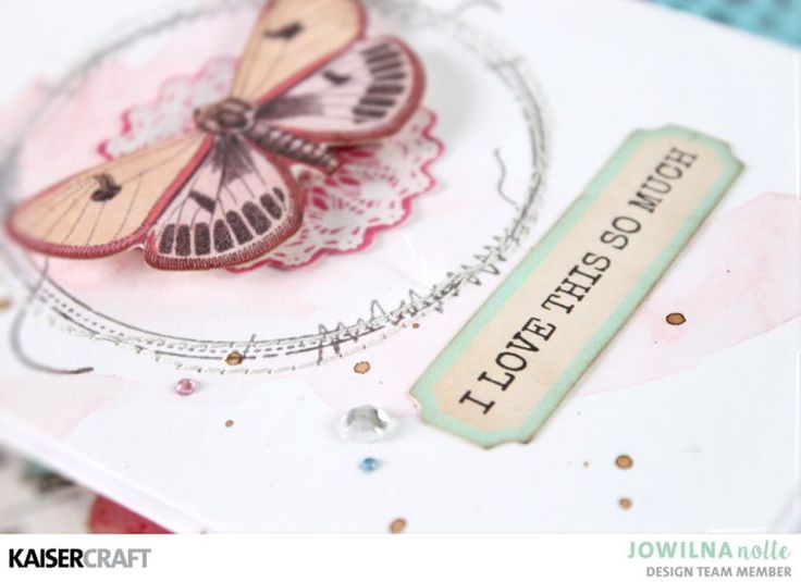 """""""I Love This So Much"""" [view B] Hand Made Card Inspiration by Jowilna Nolte Design Team member for Kaisercraft Official Blog featuring """"Miss Betty"""" collection. Learn more at kaisercraft.com.au - Kaisercraft Projects."""