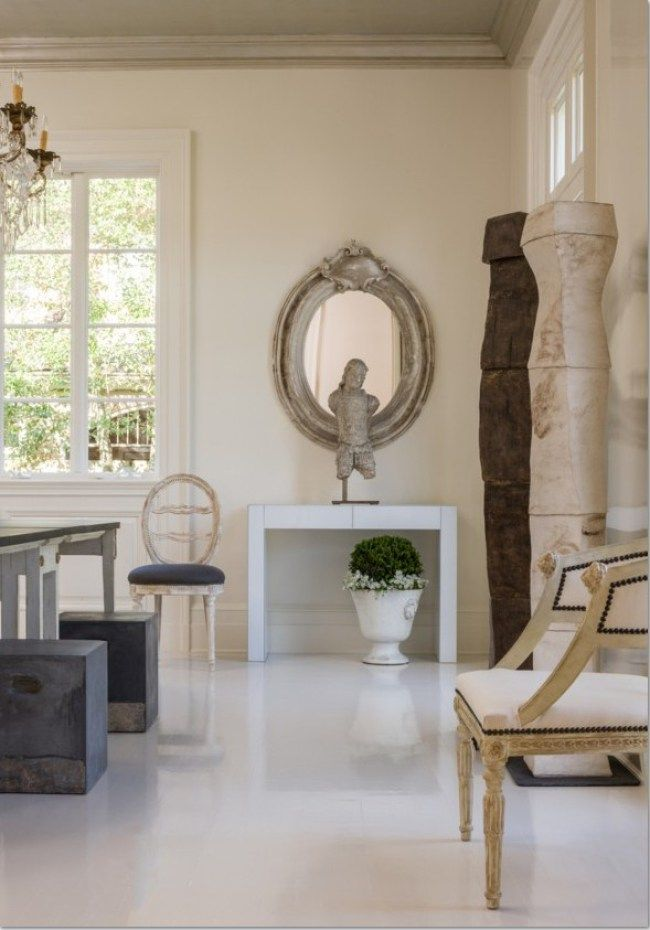 Serenity In This Room By Tara Shaw. Contemporary Designed Pieces Alongside  Antique Furniture.