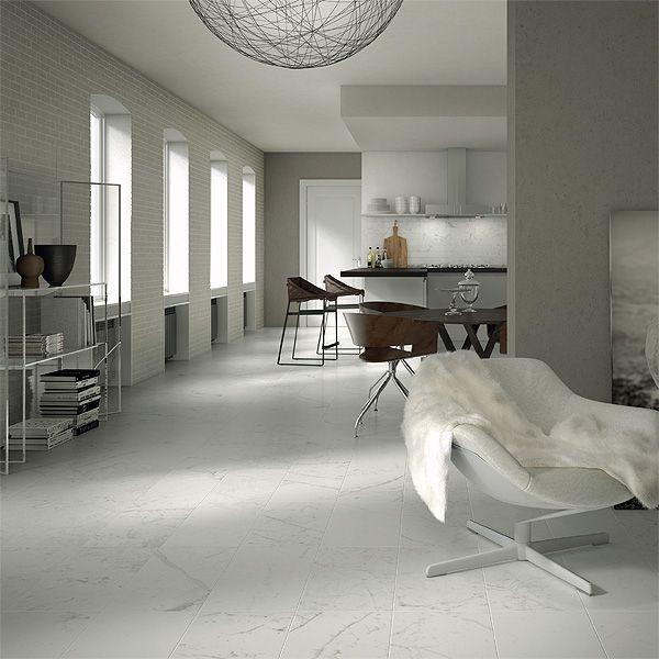 I pavimenti in gres porcellanatoeffetto marmo sono pensati per chidesidera la bellezza del marmo e la massima resistenza.