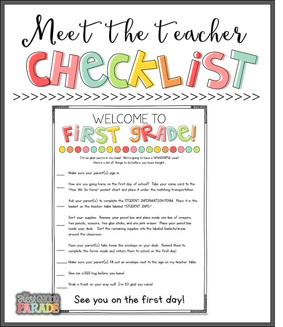 Meet the Teacher Tips