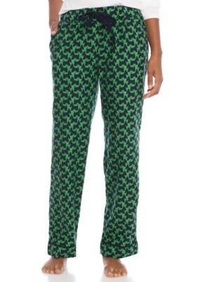 Crown & Ivy™ Women's Easy Cotton Pants - Navy/Green - Xs