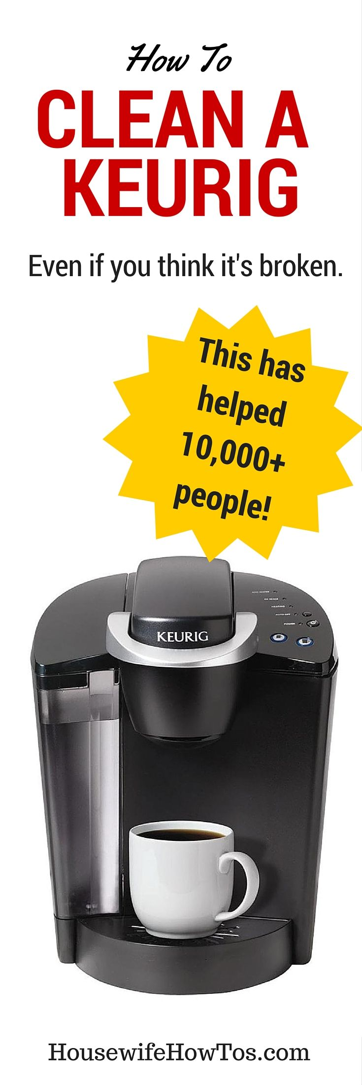 Is your Keurig brewing slowly? Shorting your cup? Or maybe it's not working at all? These 9 easy steps have helped 1,000+ people get theirs working like new!
