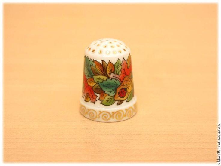 """Купить Наперсток """"Осенние листья"""" (фарфор, подарок, сувенир) - фарфор, фарфоровый наперсток, наперсток фарфор"""