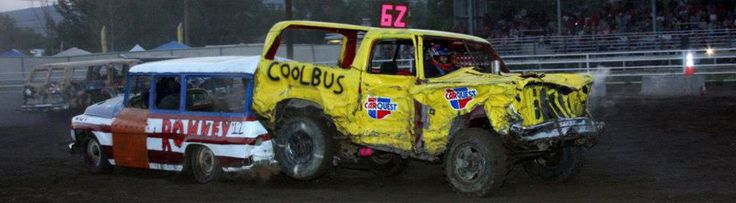 old demolition derby at a state fair