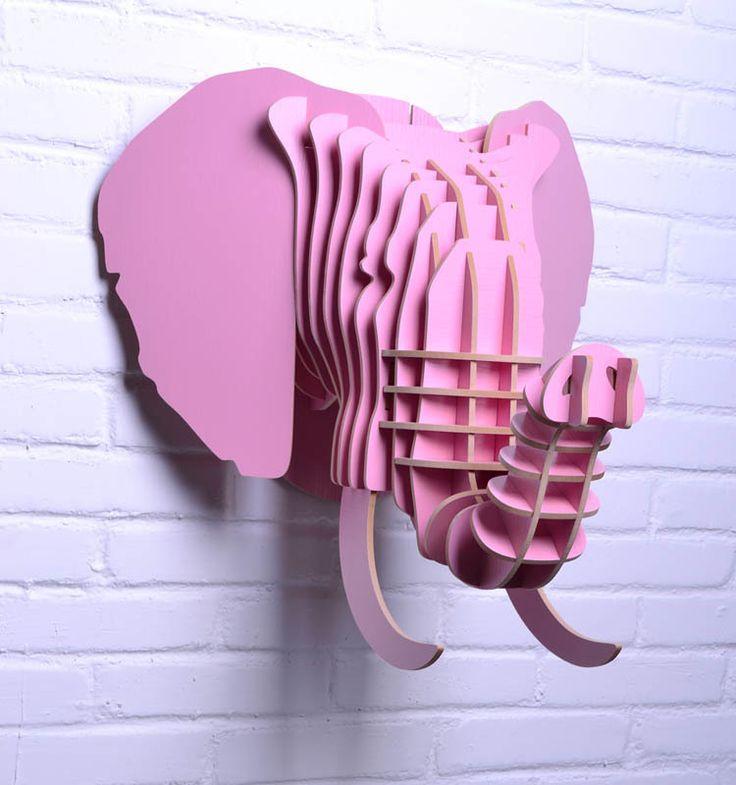 DIY Cardboard Decor | head for wall decor,craft diy,animal heads,wood crafts,mdf home decor ...