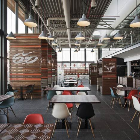 Nike Canteen by Uxus Design | Travel Tuesday | Hilversum | Netherlands | Dining | Industrial Design | Inspirational Design | Warehouse Home Design Magazine