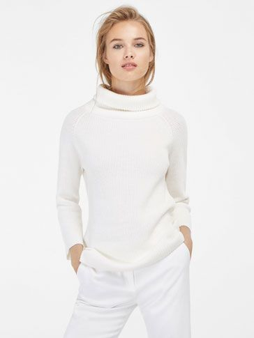 {10} {11} {9}´s PEARL KNIT SWEATER WITH POLO NECK at Massimo Dutti for 54.95. Effortless elegance!