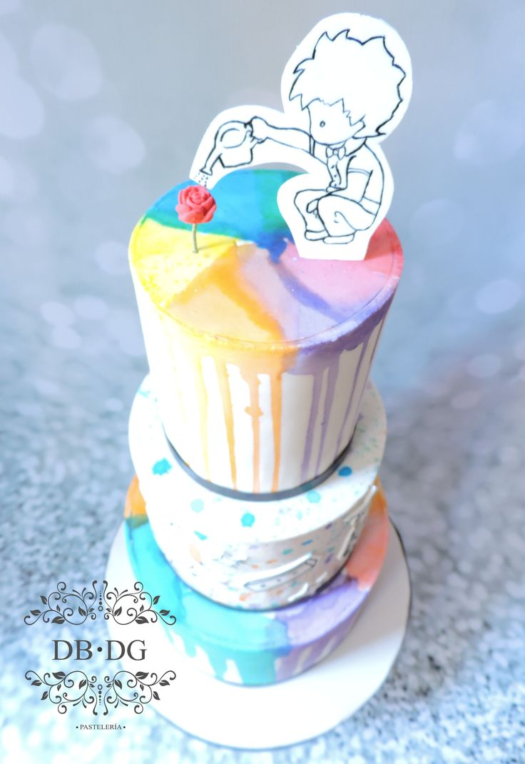 bird view the little prince cake <3