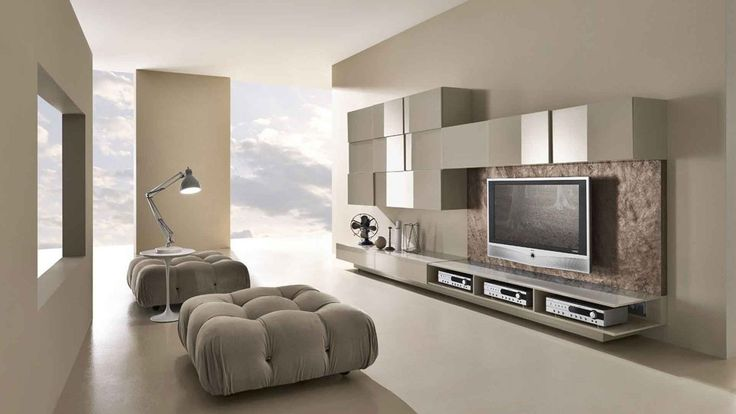 Modern TV Wall Unit Comp. 225 by Presotto, Italy