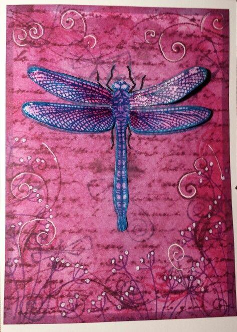 Dragonfly card I made