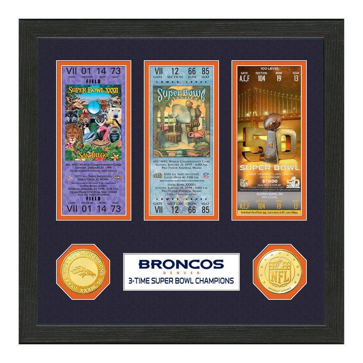 NFL Denver Broncos Highland Mint Super Bowl Ticket Collection