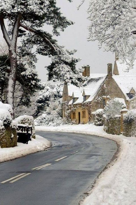 Chipping Campden in Snow, Gloucestershire, England by Andrew Lockie!