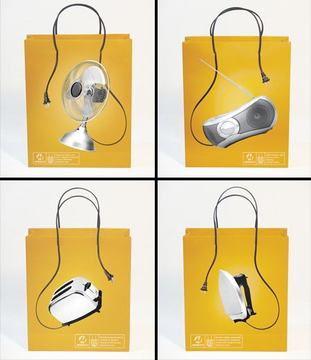 Awesome shopping bags designed for Meralco electricity supplier.