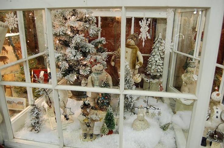 Inside The Christmas Greenhouse Christmas Old Windows