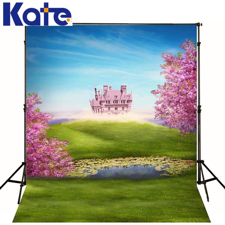 Kate Fairy Tale Castle Photography Background Spring Scenery Forest Wedding Backdrops For Children Photo Shoot