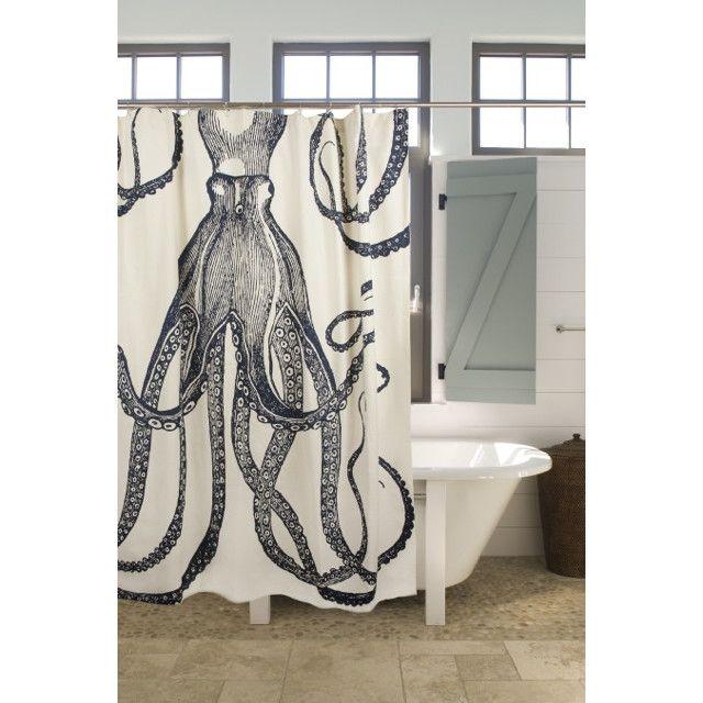 Thomas Paul Bath Cotton Octopus Shower Curtain & Reviews | Wayfair
