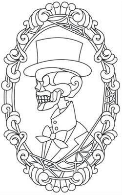 Sugar skull. Colouring in. His. Calavera