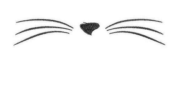Cat Nose And Whiskers Machine Embroidery Design Embroidery Etsy Machine Embroidery Cat Embroidery Designs Machine Embroidery