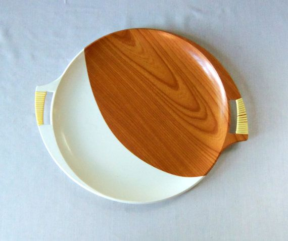 Mid Century Modern Serving Tray Mad Men Melamine by BeeHavenHome