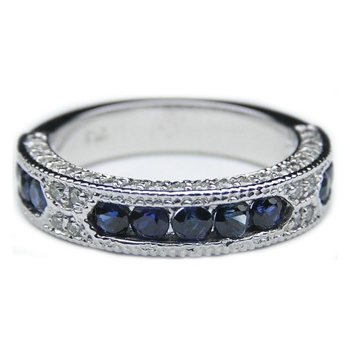 17 best ideas about sapphire wedding bands on pinterest