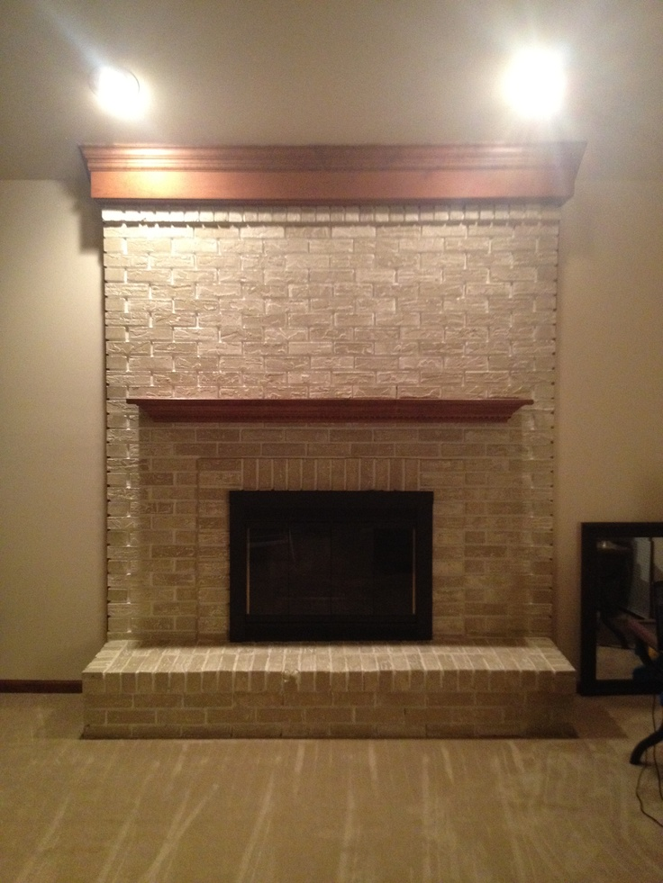 Fireplace After Brass Fireplace Insert Lightly Sanded And Spray Painted With Rustoleum High