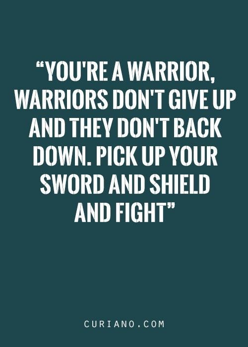 FIGHT for yourself!!