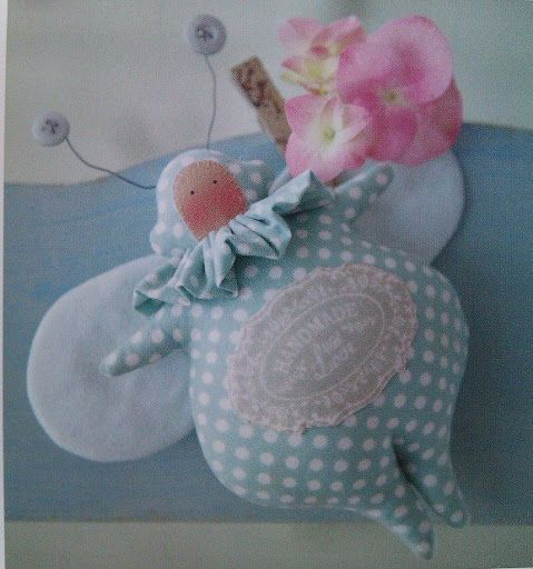 Tilda fabric butterfly with mold - Patchwork
