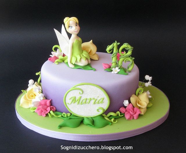 Tinkerbell cake by Sogni di Zucchero, via Flickr