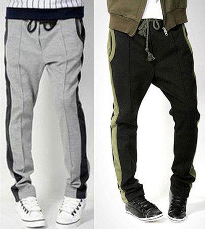 Men's Casual Sports Dance Trousers Training Baggy Jogging Harem Pants M0753 | eBay