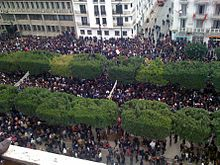 Tunisian revolution – Tunis, 14 January 2011